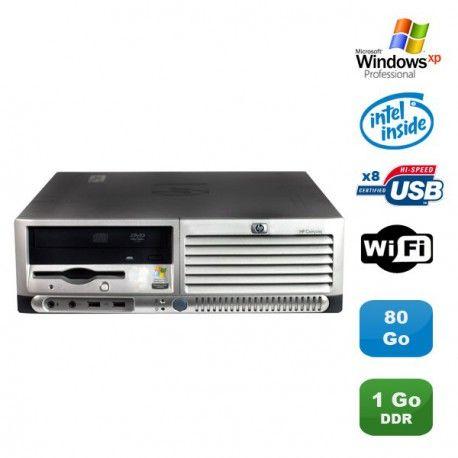 PC HP Compaq DC7100 SFF Pentium 4 HT 521 2.8Ghz 1Go DDR 80Go SATA Xp Pro WIFI