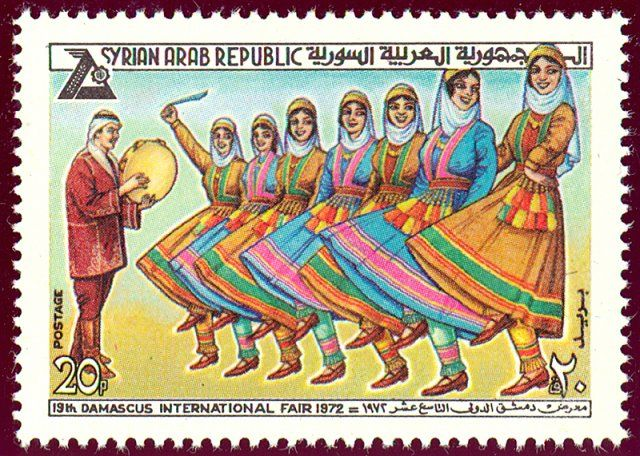Syria - Debke w/ Tambourine, dance