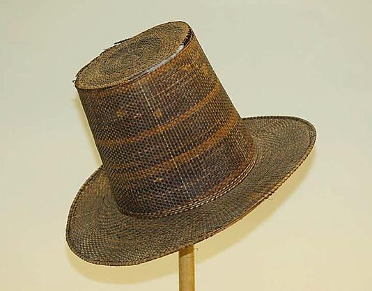 Men's Straw Hat, European, 1835