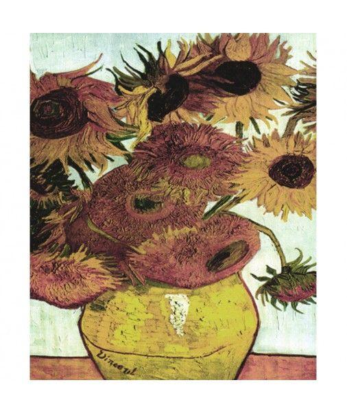 Strofinaccio da cucina canovaccio in cotone Quadri D'Autore - GIRASOLI di Van Gogh
