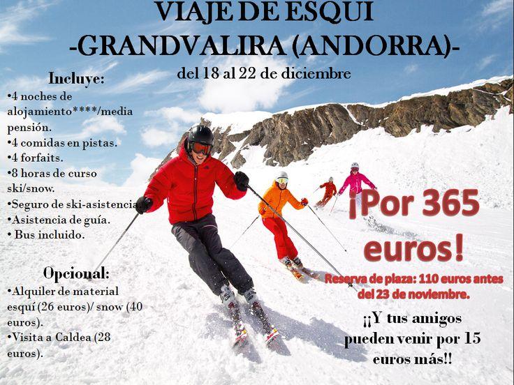 cartel viaje esquí 2015