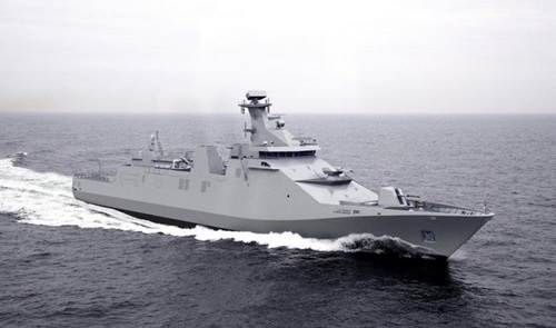 144 m advanced combatant Air Defence & Command Frigate ship