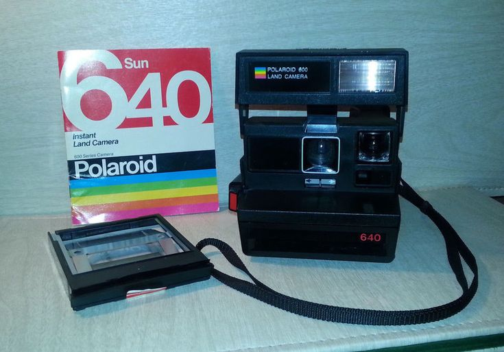 Polaroid Sun 640 Instant Land Camera 600 Film Camera & Instructions    #Polaroid
