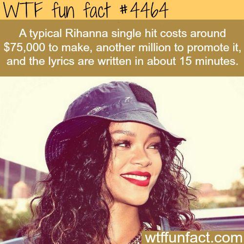 Rihanna songs -   WTF fun facts
