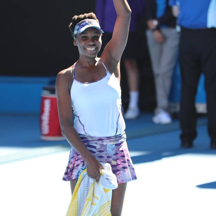 Great Champion Venus Williams. Because of Venus, there is a Serena Williams. Vee defied her age, her illness to advance to a Slam Final after a 7 year drought. Doing the Work. <3 you #QueenVee