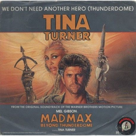 <p>ARTISTA: TINA TURNER<br />LATO A: WE DON'T NEED ANOTHER HERO (THUNDERDOME)<br />LATO B: WE DON'T NEED ANOTHER HERO (THUNDERDOME) INSTRUMENTAL</p><p> </p>