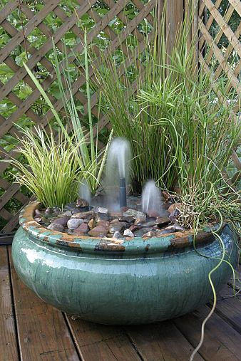 Outdoor project - make a container water garden fountain, from Aquascape