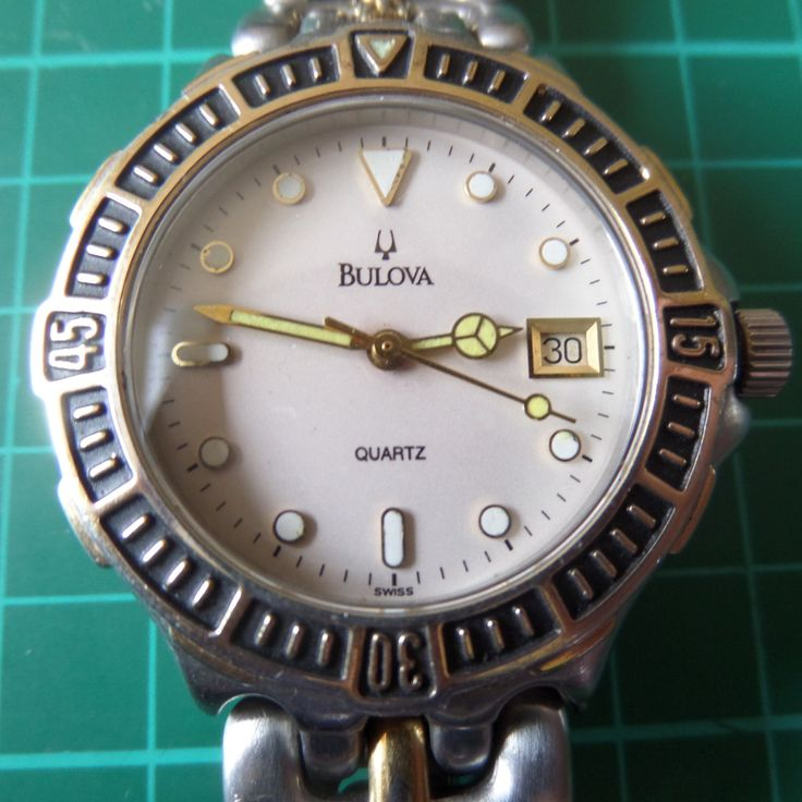 BULOVA - STUNNING 1980's Water Resistant, Swiss made - Full Working Order, Untouched Guaranteed Genuine Gents Quartz Wristwatch by EWcoLondon on Etsy