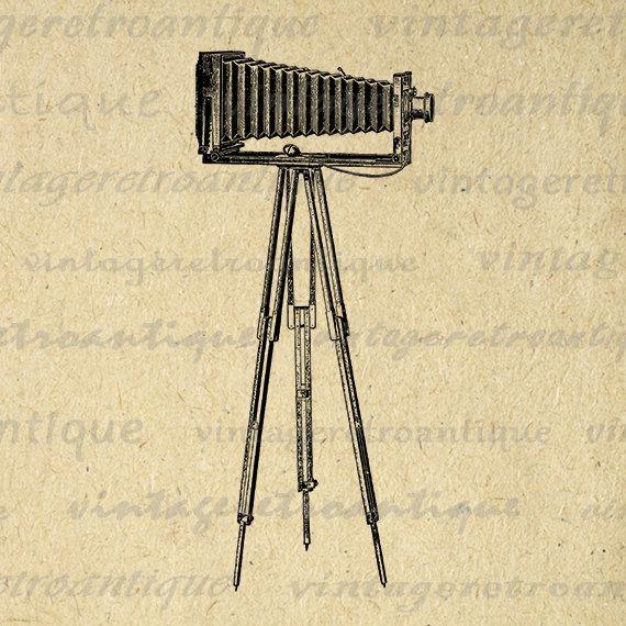 Printable Image Old Camera Download Vintage Camera Digital Graphic Antique Clip Art Jpg Png Eps 18x18 HQ 300dpi No.1533 @ vintageretroantique.etsy.com #DigitalArt #Printable #Art #VintageRetroAntique #Digital #Clipart #Download