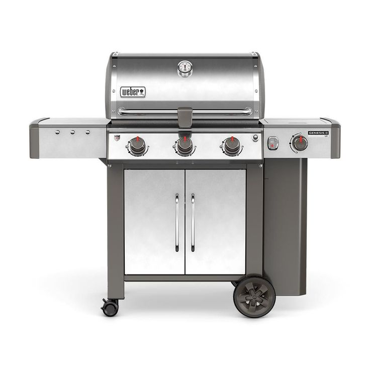 Weber Genesis II LX S-340 3-Burner Propane Gas Grill in Stainless, Silver