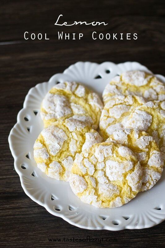 4 ingredients make up these delightfully simple Lemon Cool Whip Cookies..