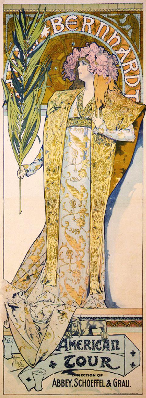 Sarah Bernhardt American tour, 1896 - Alphonse Mucha
