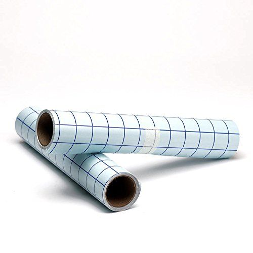 Vinyl Transfer Paper Grid Tape A 2020 Feet Total 2 Rolls 12a 20x 10 Feet Clear W Blue Alignment Squares Transfer Tape For Vinyl Vinyl Transfer Transfer Tape