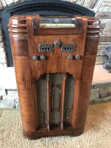 1938-Silvertone-Model-4781-Working-Vacuum-Tube-Wood-Cabinet-Radio