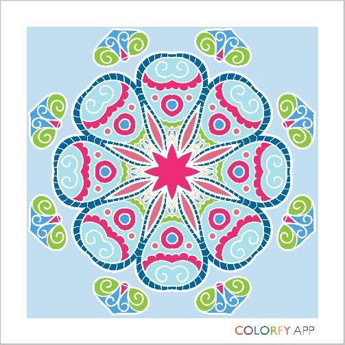 #mandala #colour #colouringapp #colorfy #hobby #blue