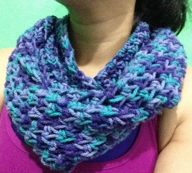 17 mejores ideas sobre bufandas de ganchillo infinito en - Como hacer punto de lana para principiantes ...