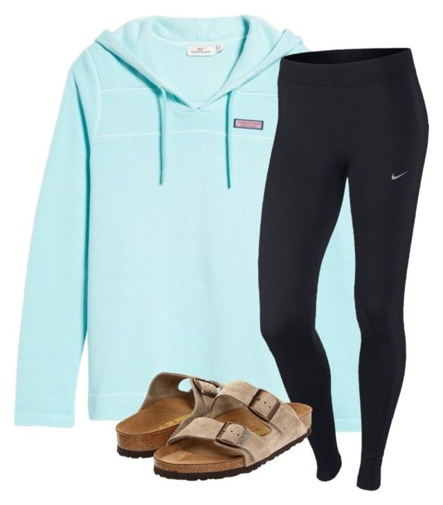 """Untitled #165"" by lhnlila on Polyvore featuring Vineyard Vines, NIKE and Birkenstock"