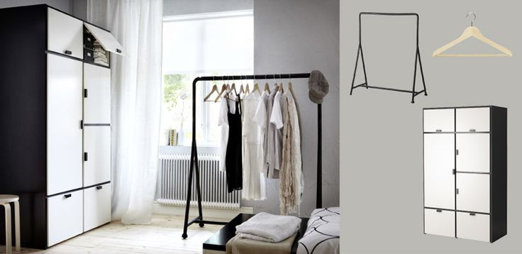 Like this clothes rack, could get a few to have a free standing option and create more space...