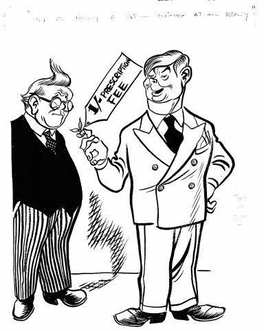 The NHS was very expensive to run - it cost £400 million in its first year alone. In 1951, the Labour Government was forced to introduce charges for spectacles, false teeth and prescriptions. Labour Minister for Health, Aneurin Bevan, resigned from the Government in protest - insisting that the NHS should be free for all.