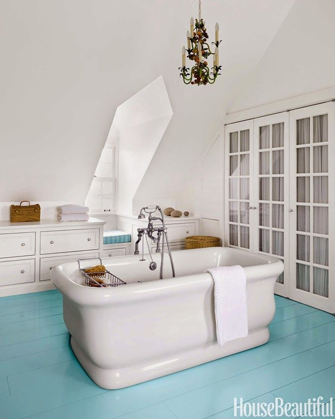Sherwin Williams Worn Turquoise: 17 Best Ideas About Painted Bathroom Floors On Pinterest