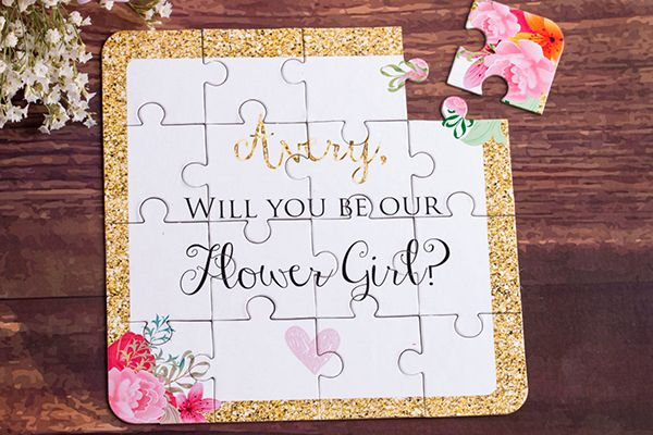 Cute ways to ask your flower girl/ring bearer to be in your wedding