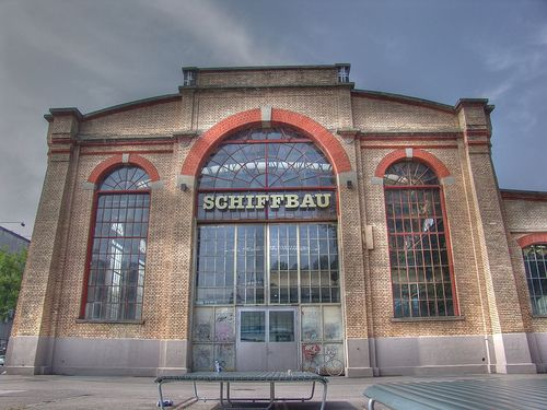 """SchiffBau"" beautiful old factory building. LaSalle restaurant"