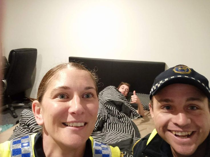 Hungover man finds selfie showing cops tucked him in previous night