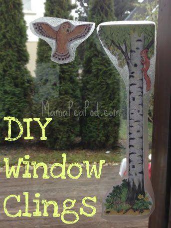 Mama Pea Pod: {DIY Window Cling Stickers}