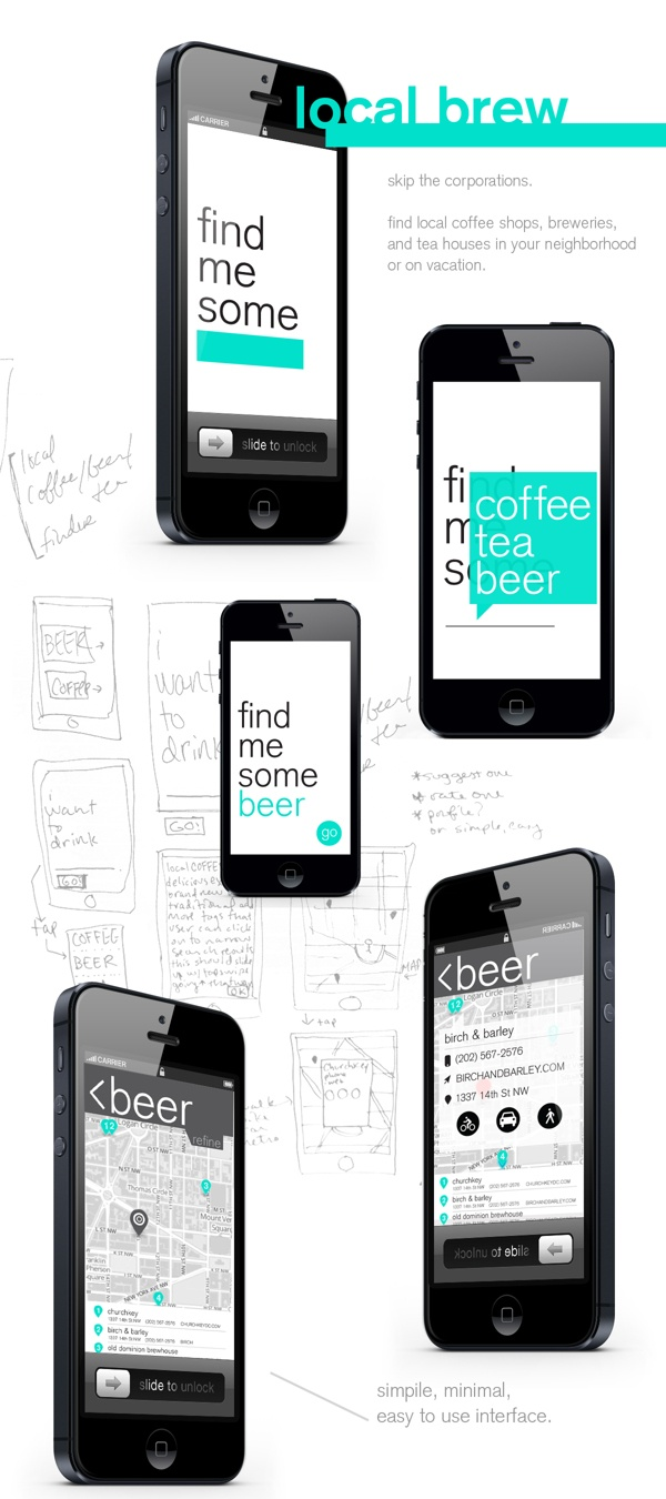 App / Local Brew by Maggie Winters, via Behance
