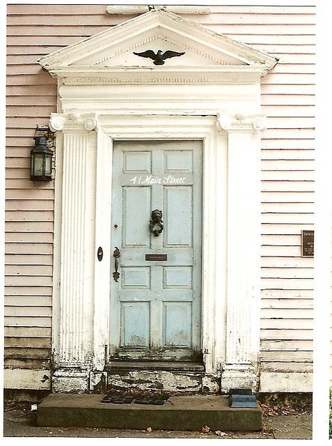81 best colonial decorated door images on pinterest for Colonial entry door