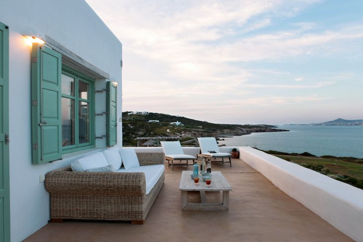 Terrace seating area with view