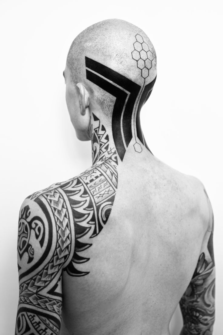 75 black and white tattoos for men masculine ink designs - Tattoo Maori On Head