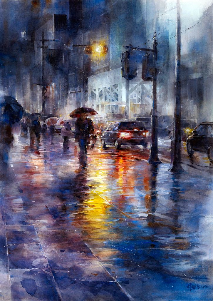 Lin Ching Che.    This painting just pulls you into it....fabulous