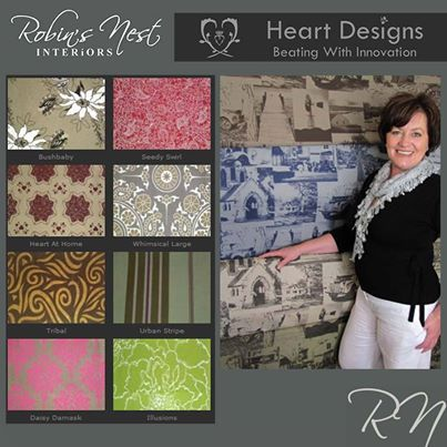 Robins Nest Interiors feature South Africa designer: Heart Designs Fabric Collection was established in 2009. Read more here: http://on.fb.me/1iK70cU #design #interior