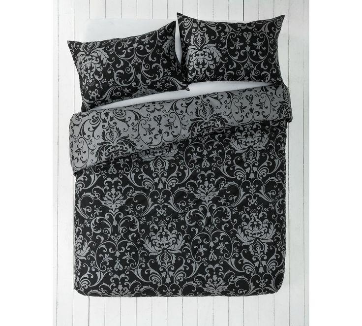 Buy HOME Black and Grey Damask Bedding Set - Kingsize at Argos.co.uk - Your Online Shop for Duvet cover sets, Bedding, Home and garden.