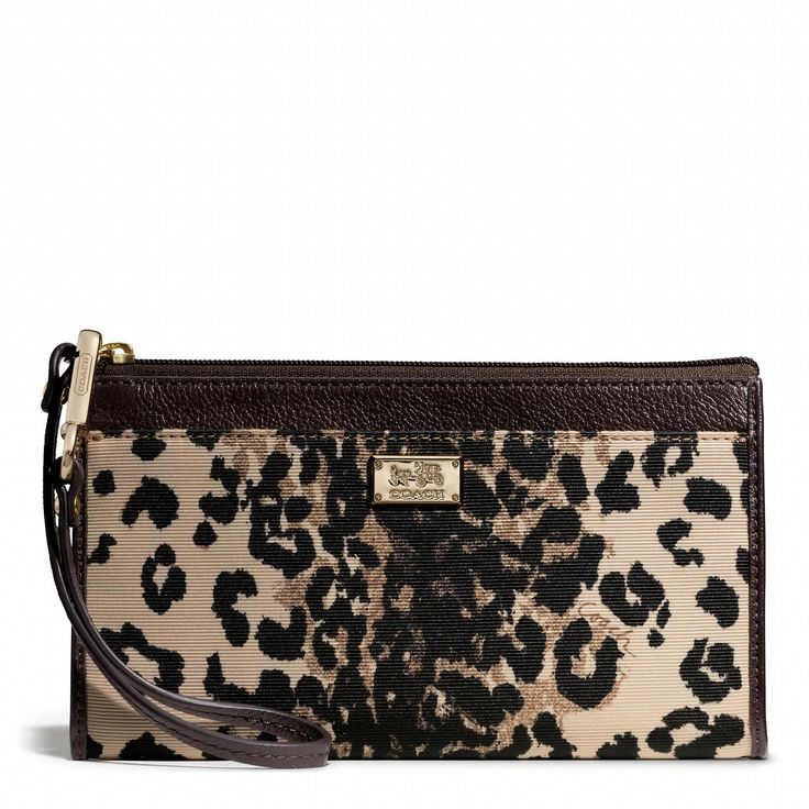 Madison Zippy Wallet in Ocelot Fabric from Coach