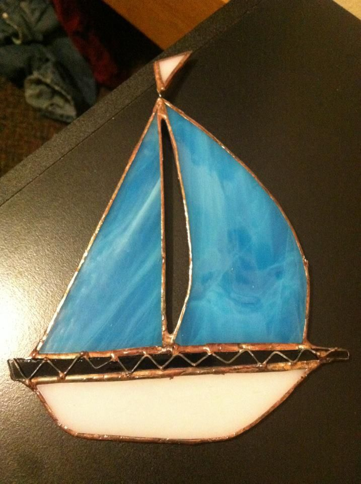 When I was in Hay River, a lovely woman went in town to teach us how to do a stained glass project. This is my very first one.