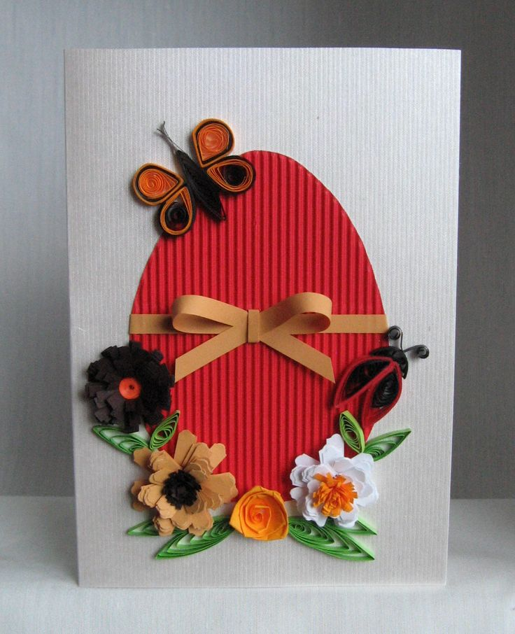 Quilling Easter Cards (4) - Pelicitari de Paste     And here are the expected model with several variations of colors.                     ...
