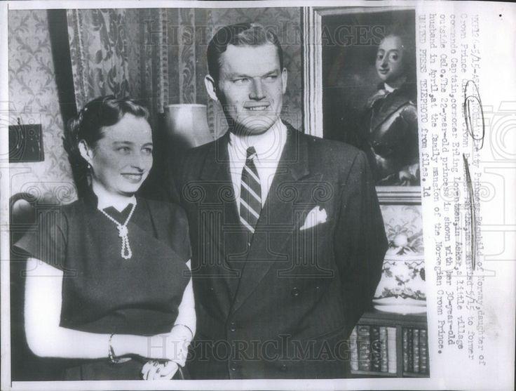 1953 Press Photo Princess Ragnhild Lorentzen Norwegian Royalty - Historic Images