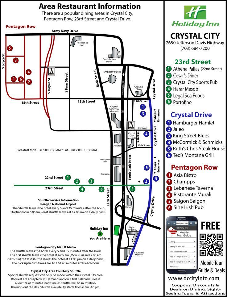 Holiday inn Front Desk List Crystal city, Area