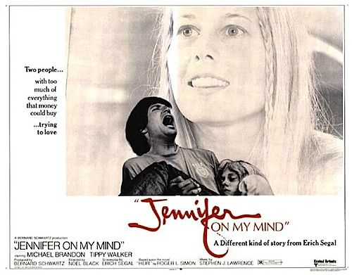 "JENNIFER ON MY MIND 1971 ON DVD. Marcus's girlfriend, Jennifer, overdoses on heroin in his mod furnished apartment so he stashes her body in an old harpsichord.   When he first met Jennifer she was only into pot and Moroccan hash. The good-old days!  Cool acid-rock sequence with a Sgt. Pepper/Cream/ Hendrix sound-a-like soundtrack. Jennifer gets into peyote cookies, ""snow"" and big ""H.""  Robert De Niro plays a wild hippie-gypsy cab driver."