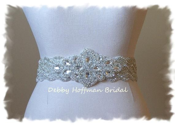 b140a8e81 Bridal Sash, Jeweled Wedding Sash, Rhinestone Crystal Wedding Dress Belt,  Crystal Bridal Belt