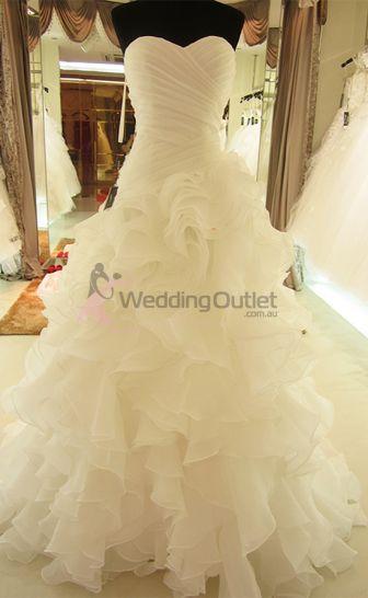 Elenora Ruffle Mermaid Wedding Dresses ab-90