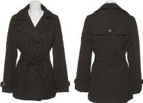 JOU JOU Double Breasted Coat W/ Belt [059-580-JP], BLACK