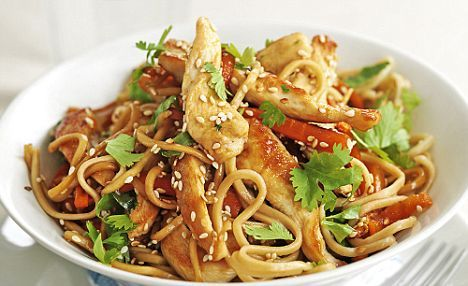 Chinese Food Recipes 中餐食谱: Chicken Stir Fry with Noodles Recipe
