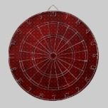 Deep Red Contemporary Dots Pattern dartboards