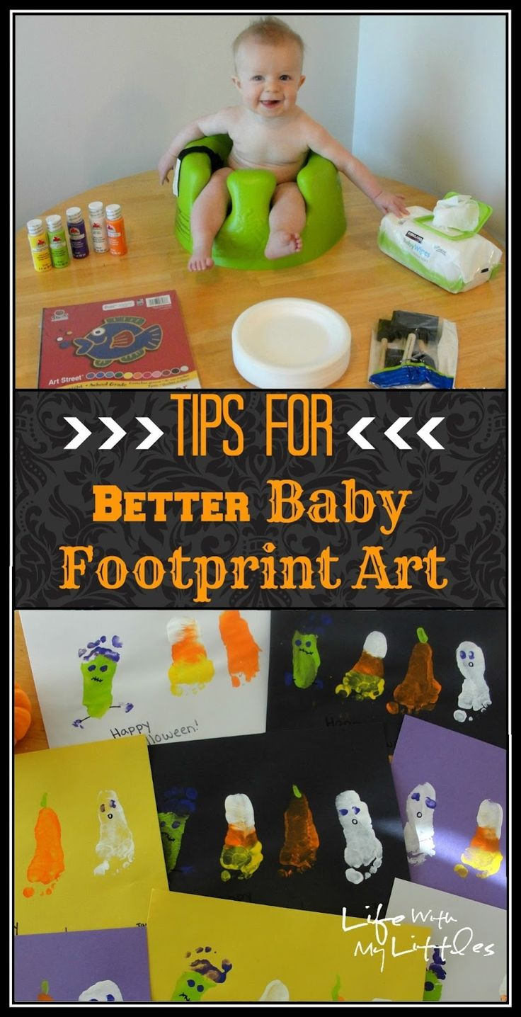 Tips for Better Baby Footprint Art: 11 tips to help get the best baby footprints for your footprint art!