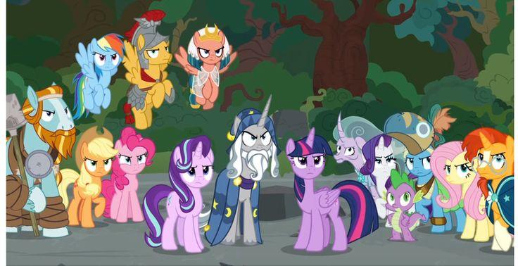 #1554778 - applejack, female, flash magnus, fluttershy, leak, male, mane six, meadowbrook, mistmane, pinkie pie, rainbow dash, rarity, rockhoof, safe, shadow play, somnambula, spike, spoiler:s07e26, starlight glimmer, star swirl the bearded, sunburst, twilight sparkle - Derpibooru - My Little Pony: Friendship is Magic Imageboard
