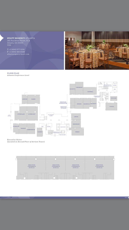 21 best atlanta venue floor plans images on pinterest floor atlanta hyatt regency hotel floor plan atlanta conference level executive suites level located