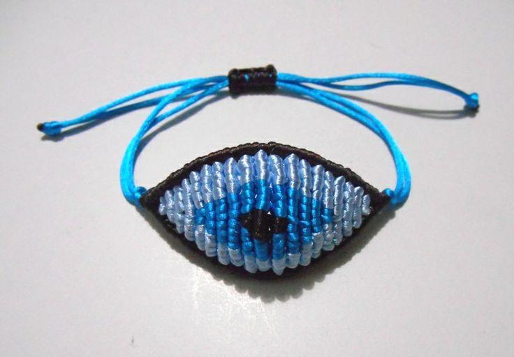 blue/light blue/turquoise evil eye